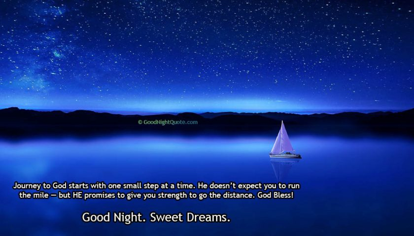 God Gives you strength - Good Night SMS