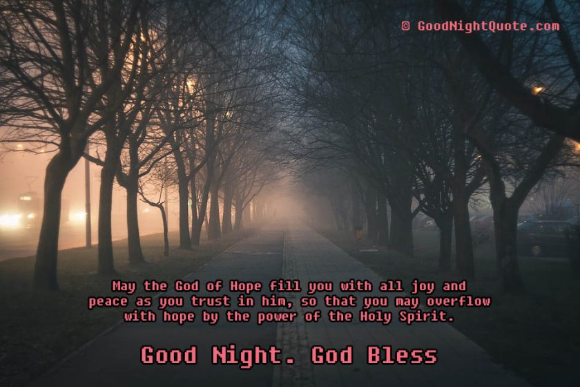 God - Holy Spirit - Good Night Quote