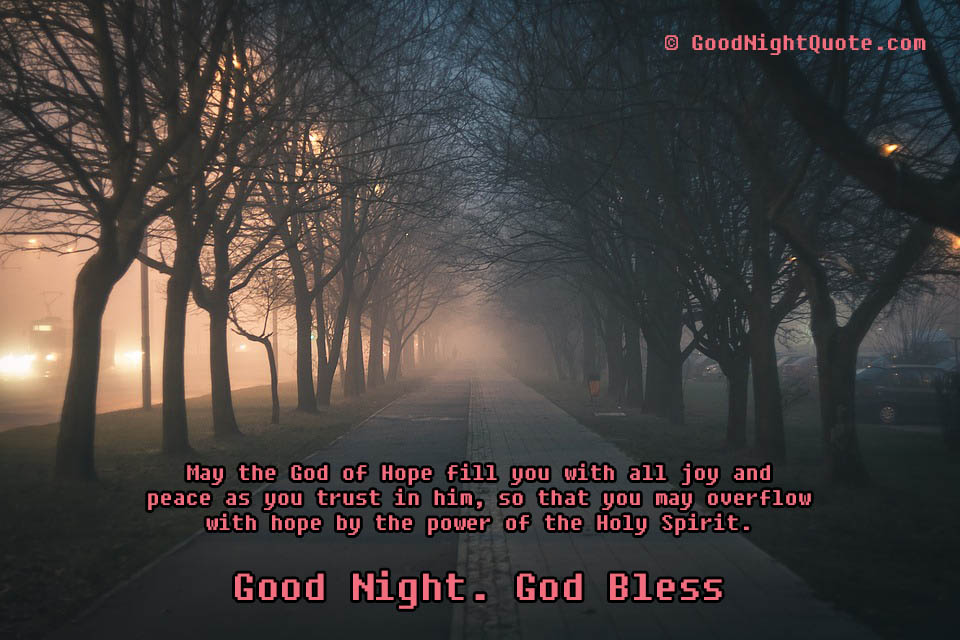 God - Holy Spirit - Good Night Quote