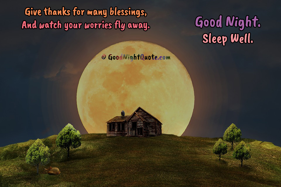 God bless you good night quote
