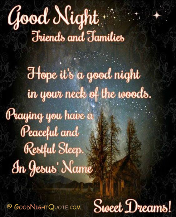 Nice Good Night Quotes With Images: Whatsapp Good Night God Bless You Text Quotes
