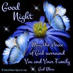 Good Night May God Bless You and Keep You All In His Care. Sweet Dreams.