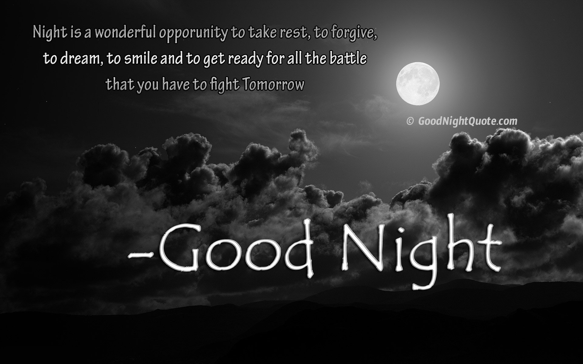 What good is the night