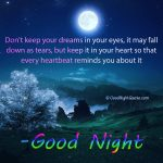 Good Night - Keep your dreams in your heart.