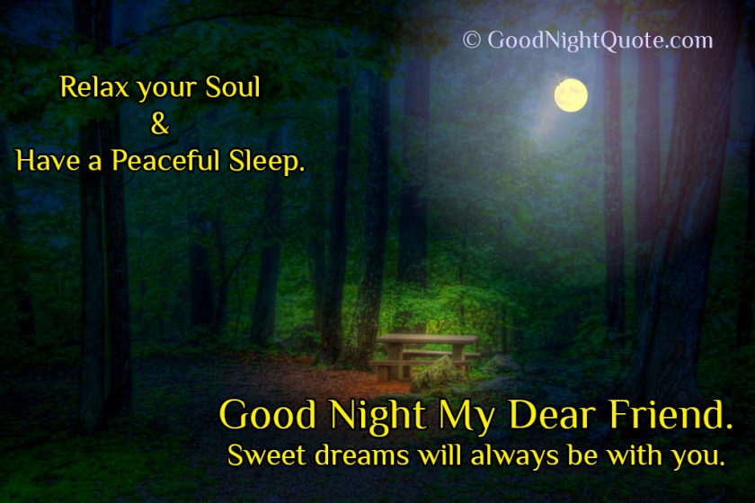 Wonderful Good Night Quote for Friends