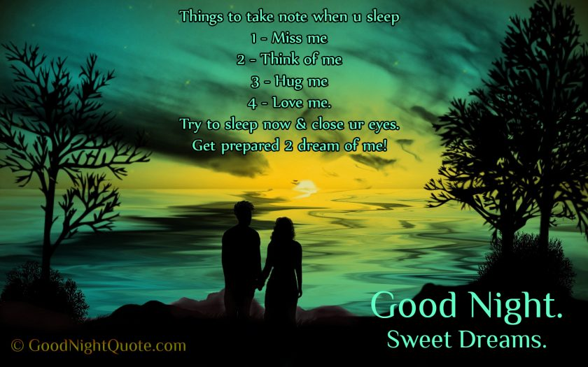 Cute Good Night Quotes for Lover