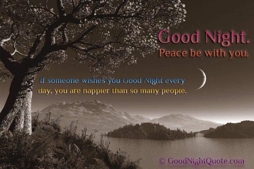 Romantic Good Night Peaceful Quotes