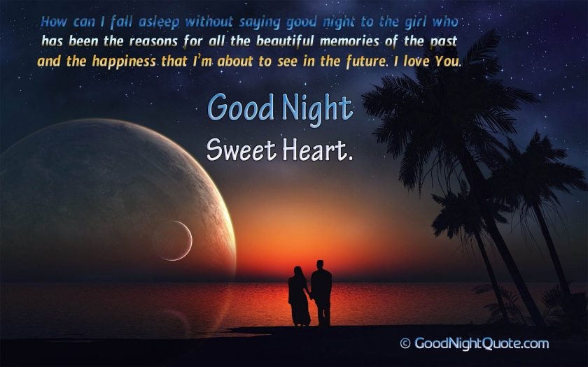Romantic Good Night Messages for Her - Creative I love You Good Night Quote