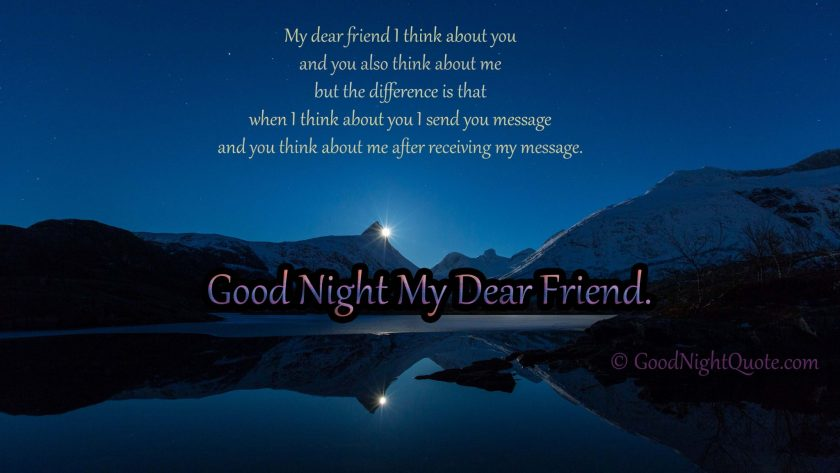 Funny and creative good night message for dearest friends