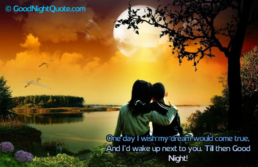 Romantic Good Night Messages for Her - on Boy Friend Dream