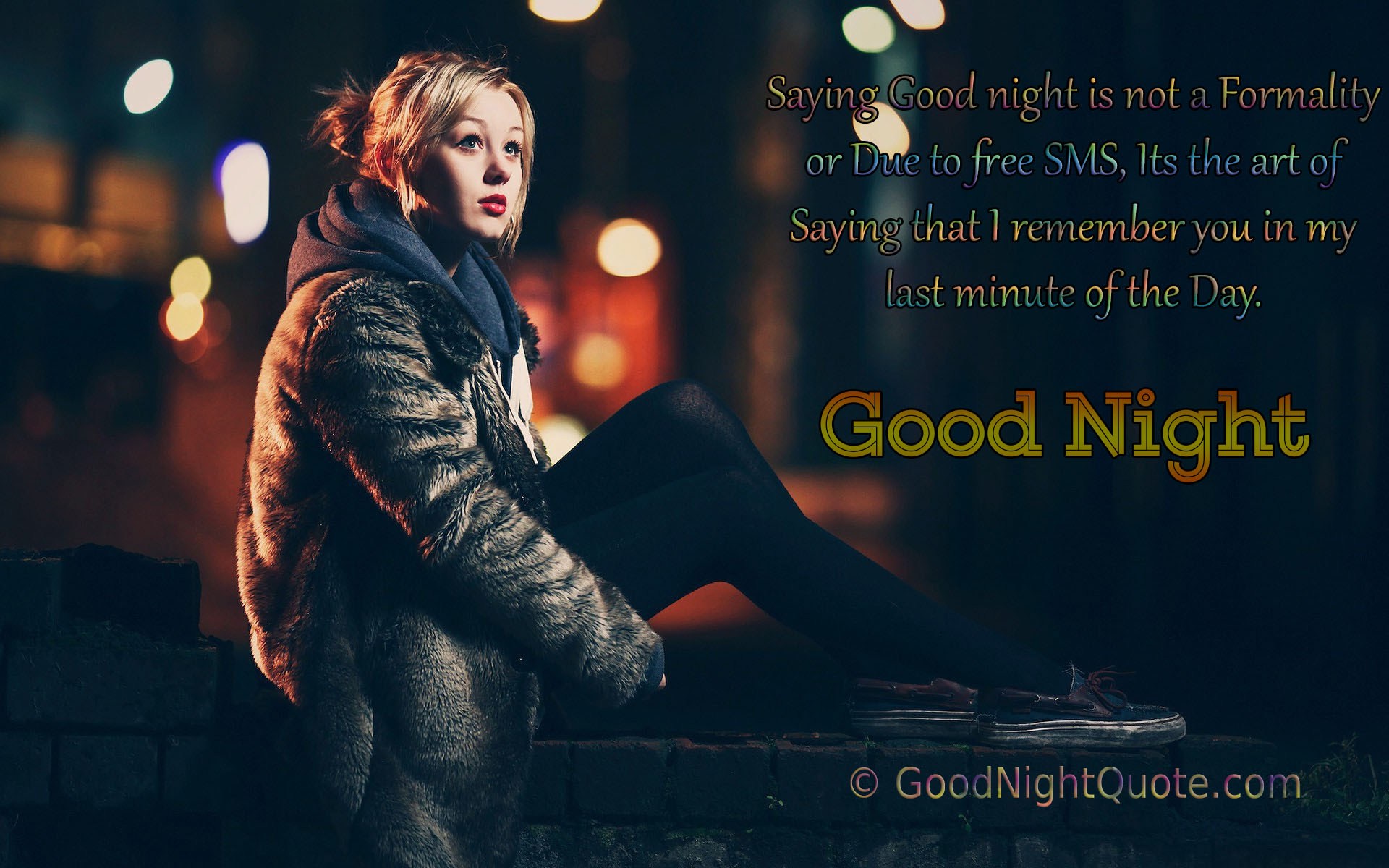 Good Night Messages For Friends - I remember you in my last minute of the Day