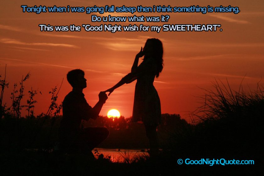 Romantic Good Night Messages for Her - Missing you good night quote for lover