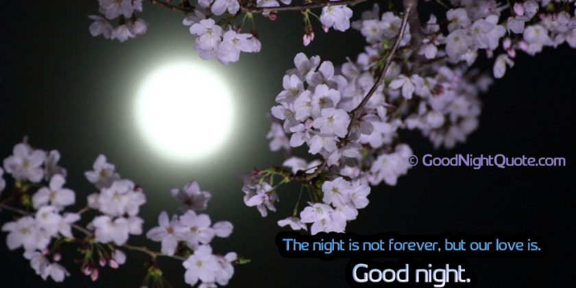 Romantic Good Night Messages for Her - The night is not forever, but our love is.