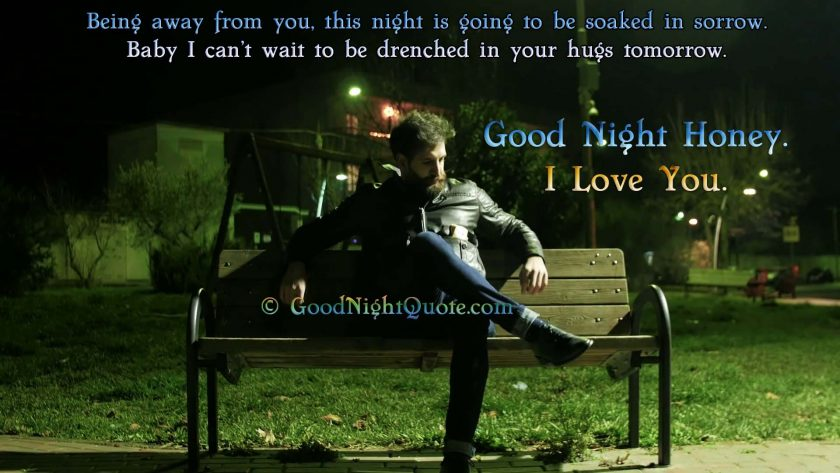 Good Night Messages for Wife - Man sitting alone on the bench