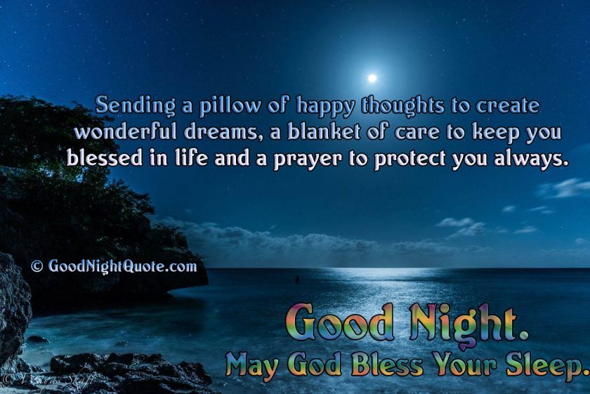 Good Night God Bless You Images - God Prayer Quote