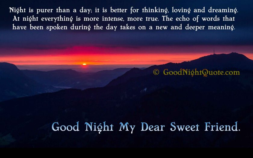 Funny Good Night Messages - Good Night My Dear Sweet Friend
