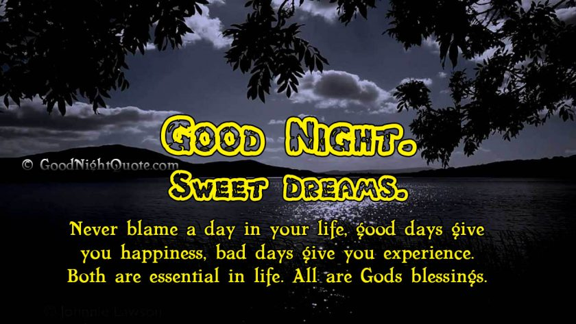 Good Night God Bless You Images on God's Blessings
