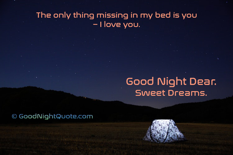 Sweet Good Night Quotes - Cute I Love You Good Night Quote for Status