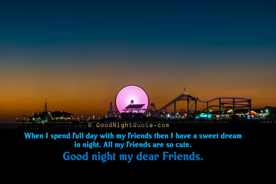 Cute Good Night Quotes - Good Night Quotes on Friendship