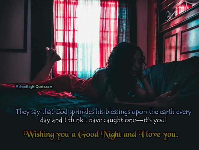 Cute Good Night Quotes - I Love You Good Night Quote