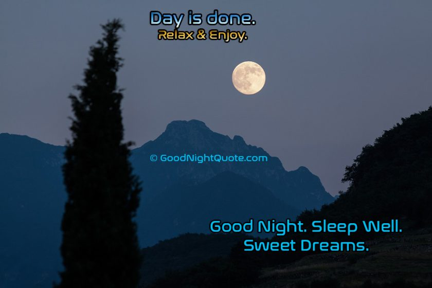 Sweet Good Night Quotes - Relax And Sleep Well Good Night Quote