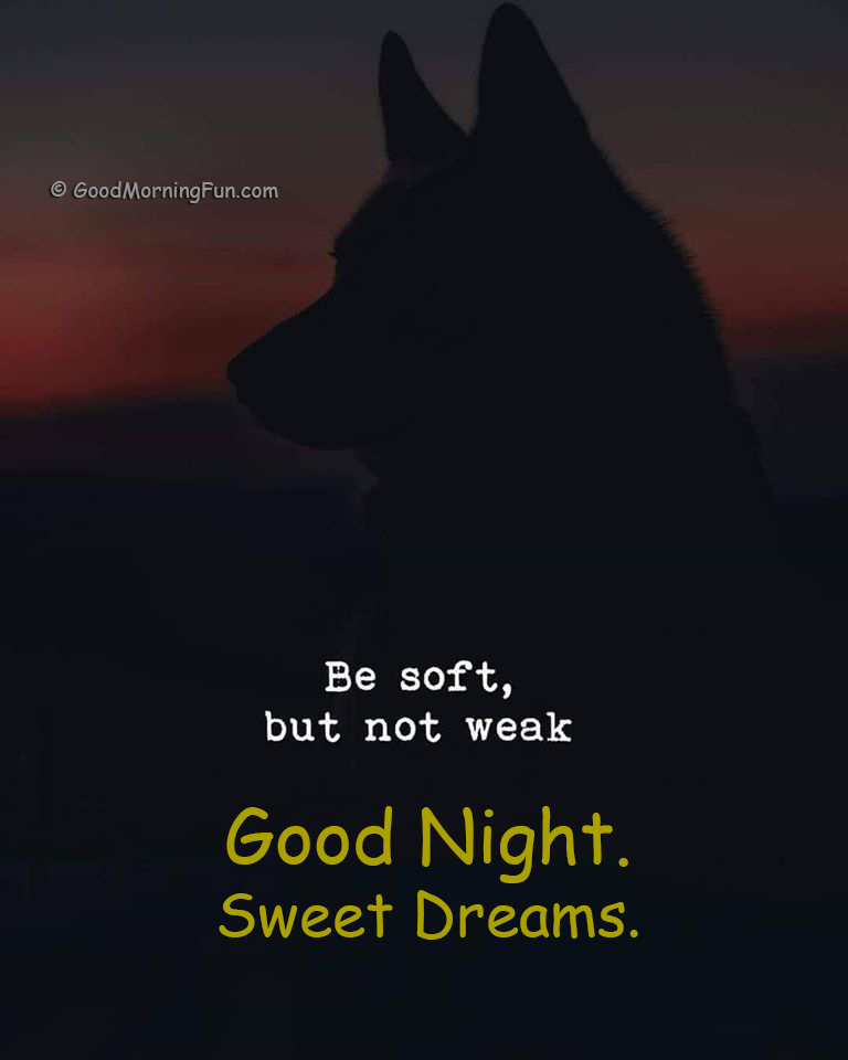 Be Soft but not Weak - Good Night
