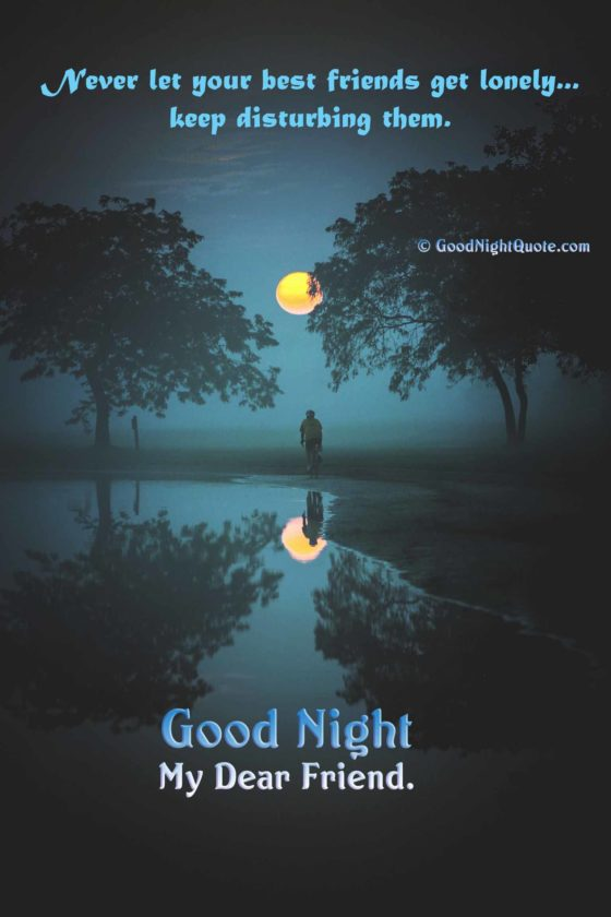 Best Friends Gud Nite Quote - Good Night Messages For Friends