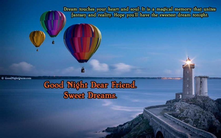 Dream touches your heart and soul-Good Night