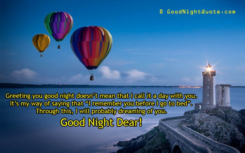 Dreaming of you cute good night love quote