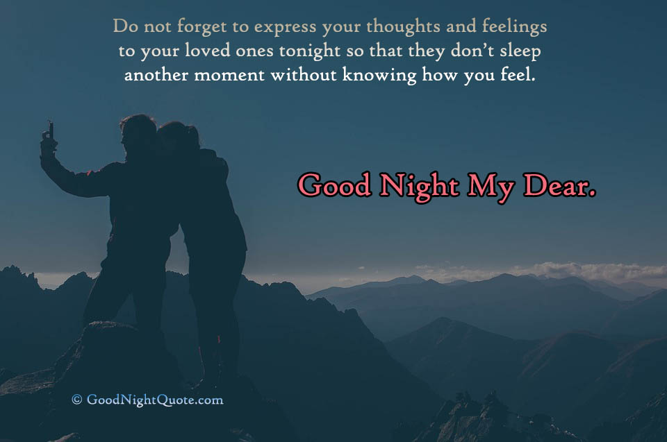 Cute Good Night quotes - Good Night My Dear - Love Couple Quote