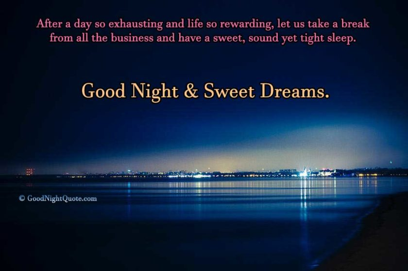 Good Night Quote for Employees or Workers