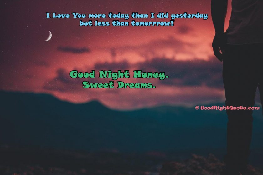I love you greeting with good night