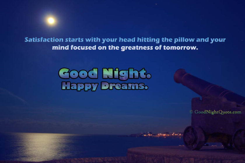 Inspirational Cute Good Night quotes with Night Castle Moon