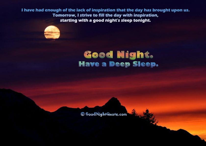 Cute Good Night quotes - Self Motivational Good Night Quote
