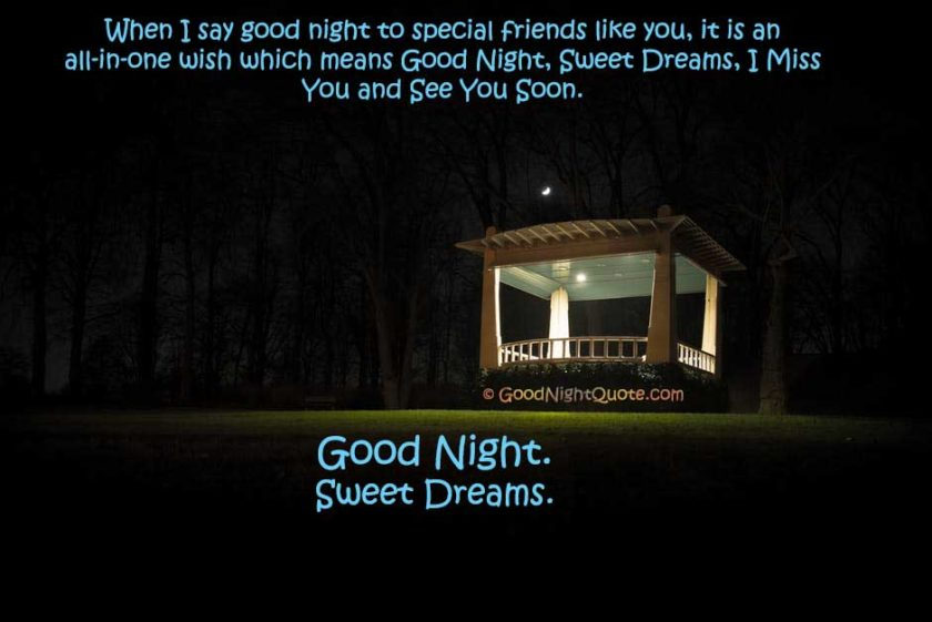 Special funny creative good night message for friend