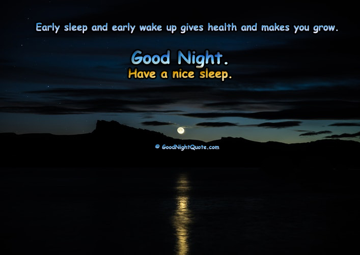 Good Night Health Tip