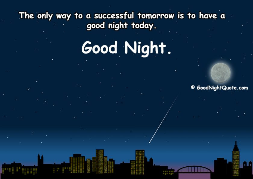 Good Night Quote for Successful Tomorrow