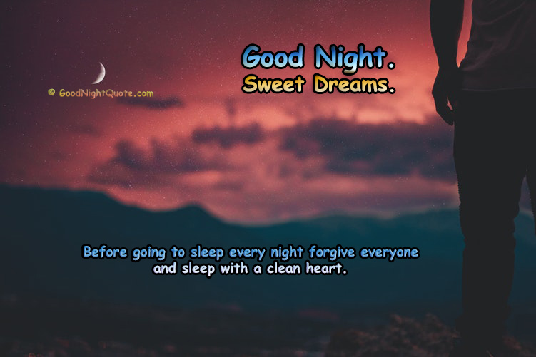 Good Night Quotes - Clean Heart
