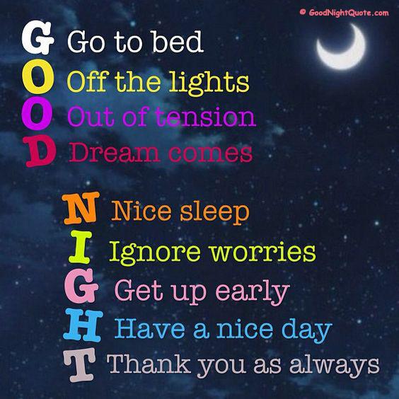 Goodnight shayari