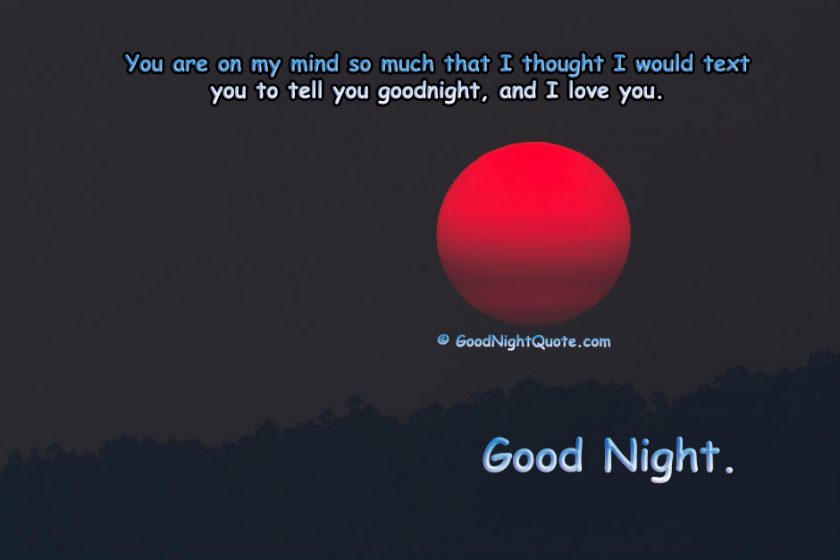 I love you Good Night Quotes for Her