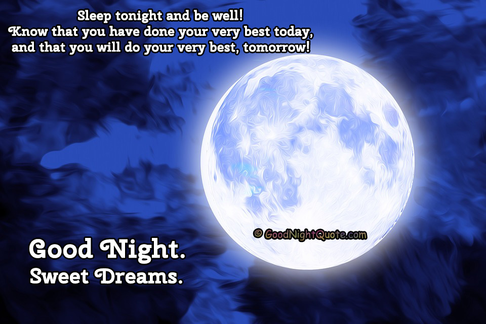 Good Night HD Images - Sleep Well Quotes
