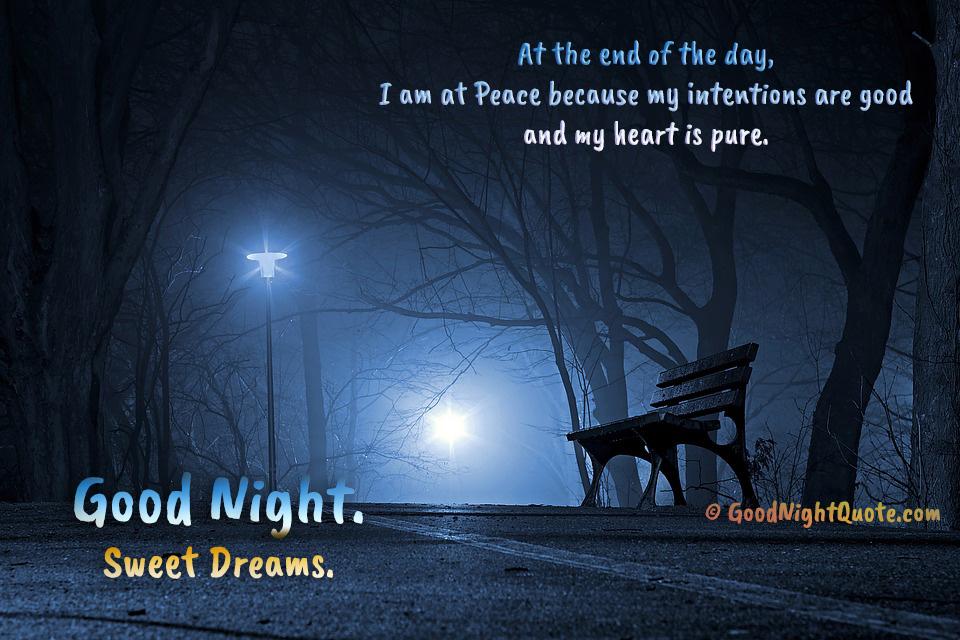 Peaceful Good Night Sayings