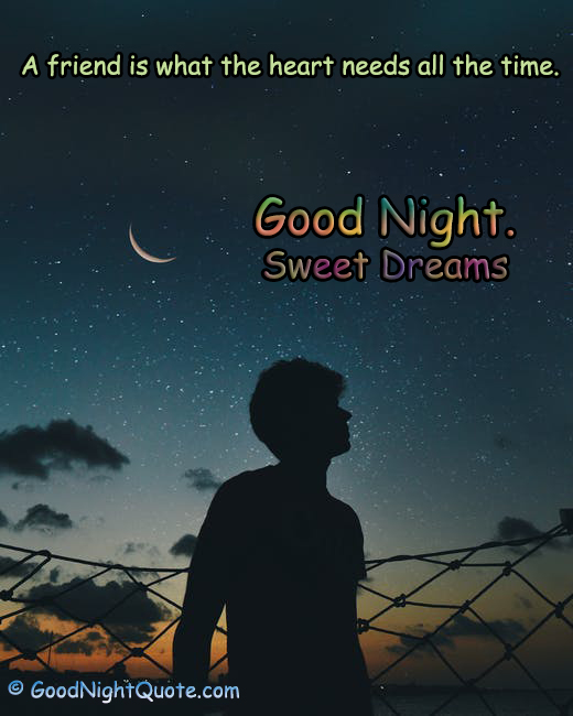 A friend is what the heart needs all the time - Good Night