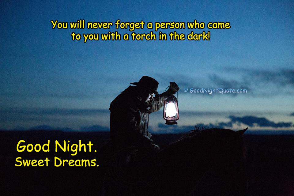 Good Night - Inspirational Quote